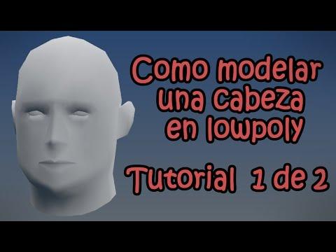 Como modelar una cabeza en lowpoly 1 de 2