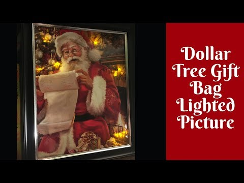 Christmas Crafts: Dollar Tree Lighted Gift Bag Pictures