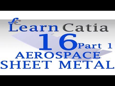 Learn catia V5 Tutorials for beginners  Aerospace Sheet Metal Design   Web   Part 1