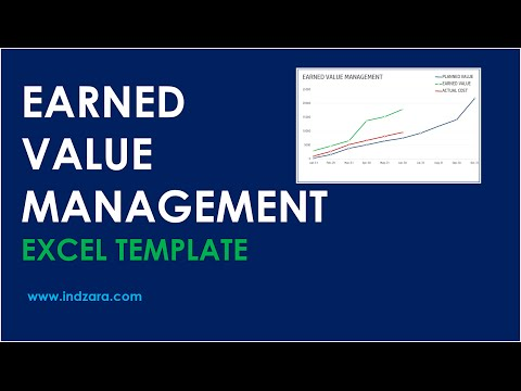 Earned Value Management - Excel Template - Tour