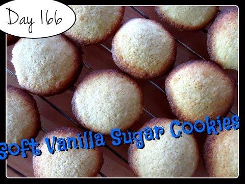 Soft Vanilla Sugar Cookies Recipe [DAY 166]