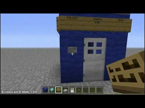 Minecraft How to build a Doctor Who TARDIS Part 1