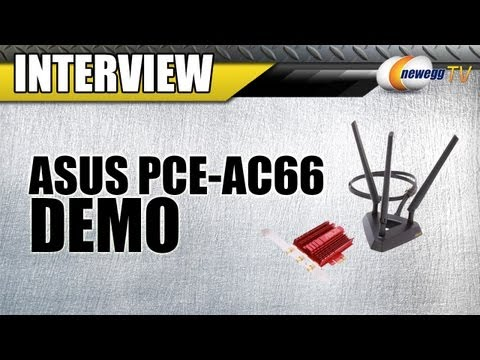 Newegg TV: ASUS PCE-AC66 802.11ac PCI Express Wireless Adapter Interview & Demo