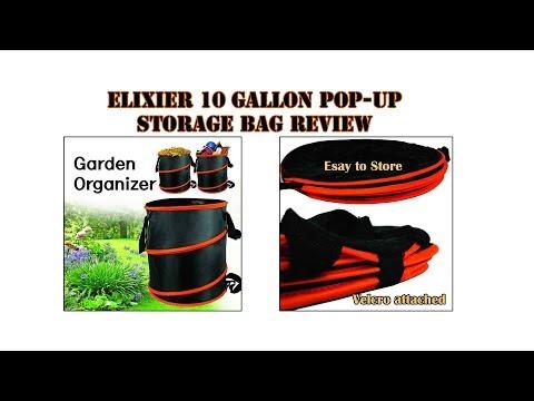 10 Gallon Elixier pop-up storage bag Review