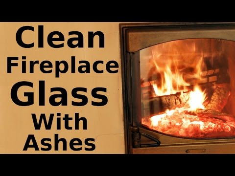 How to Clean Fireplace Glass with Ashes