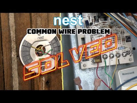 Nest Thermostat No Common Wire- PROBLEM SOLVED -How To Install Nest Missing Common