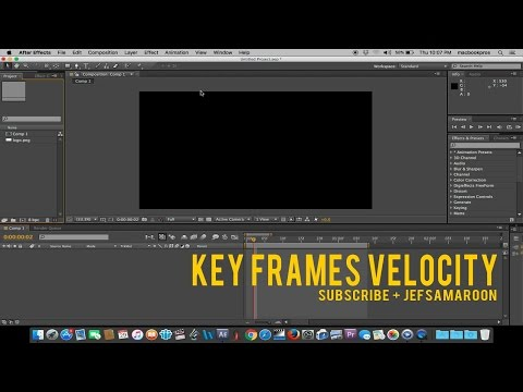 After Effects Tutorial : Key Frames Velocity