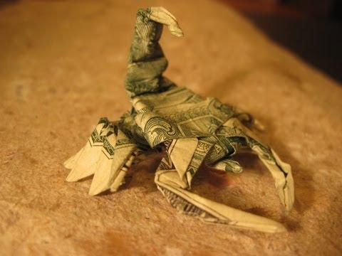 Dollar Origami: Won Park Scorpion - Steps 16-22 (Not Full Model)