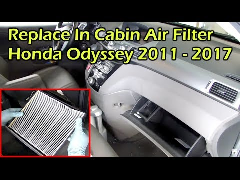 Honda Odyssey Change In Cabin Air Filter ( 2011 - 2017 )