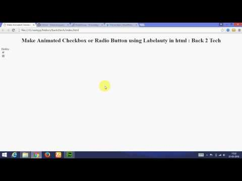 [Hindi] Make animated checkbox or radio button in html  using labelauty (jquery)