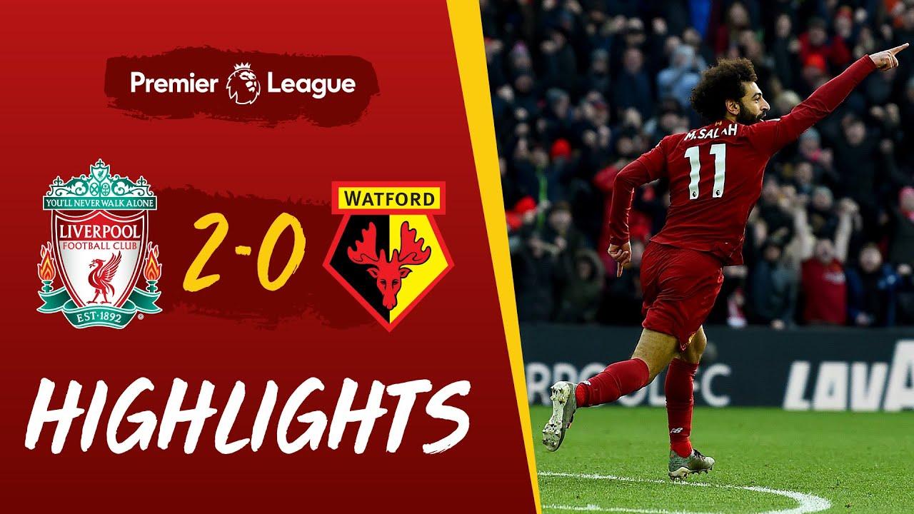 Liverpool 2-0 Watford   Salah's sensational double sees off Watford   Highlights