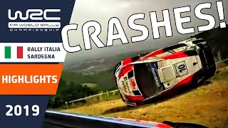 WRC - Rally Italia Sardegna 2019: Crash compilation
