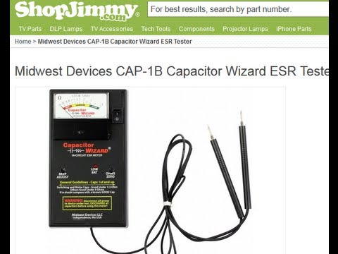 HOW TO TEST CAPACITORS IN CIRCUIT with Meter Tester