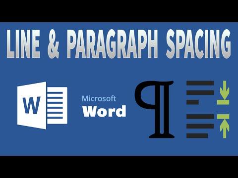 MS Word 2016 - Line & Paragraph spacing
