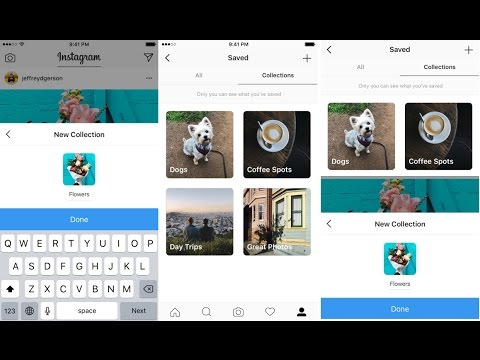 How To Use Instagram New 'Collections' Feature