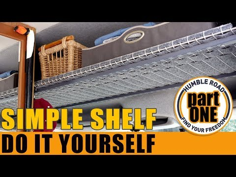 Easy Step by Step Cabover-Shelf - Hightop Van -PART 1