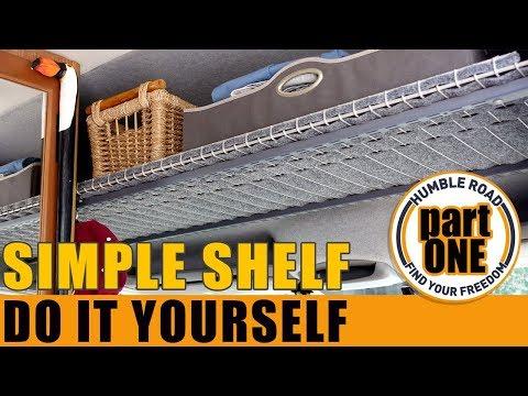 Easy Step by Step Cabover-Shelf - Hightop Van -PART 1
