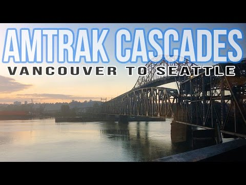 Amtrak Cascade Train Vancouver to Seattle