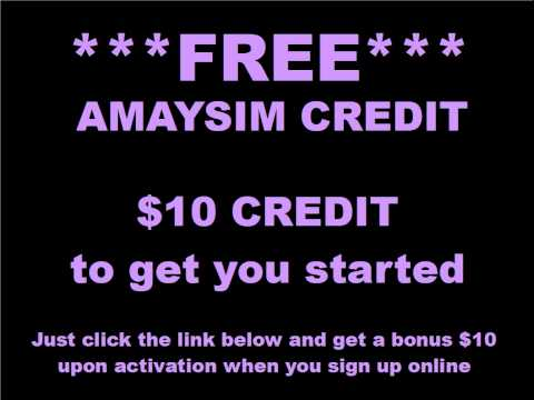 How To Get FREE Amaysim Credit