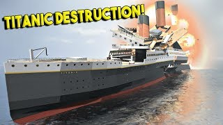 SINKING THE MASSIVE TITANIC! - Disassembly 3D Gameplay - First Look