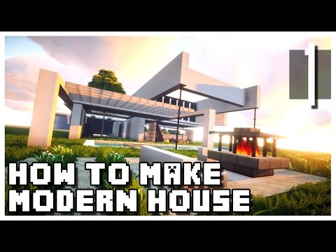 Minecraft: How To Make a Small Modern House - Part 1