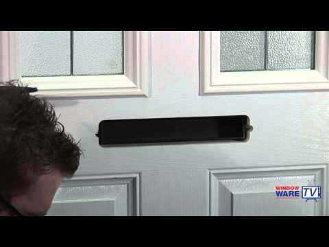 How to identify and fit a letterplate to a uPVC or composite door