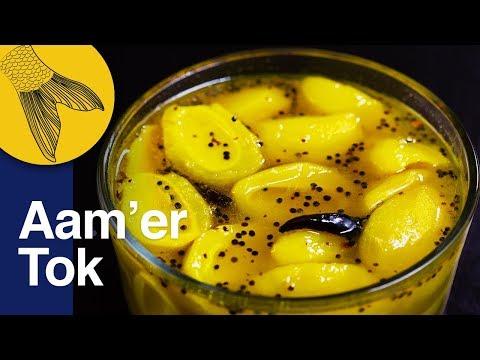 Aamer Tok or Amer Ambol–Easy Bengali Light Green Mango Chutney