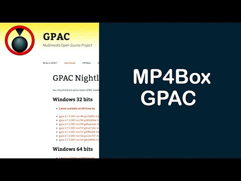 How to install MP4Box in OSX using GPAC