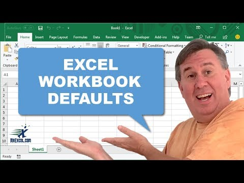 Learn Excel - Workbook Defaults - Podcast 1987