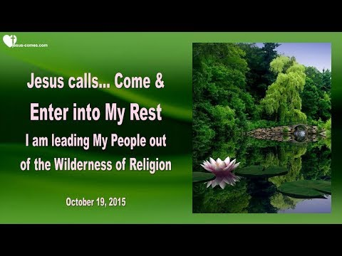 COME & ENTER INTO MY REST ... LET GO ❤️ Love Letter from Jesus