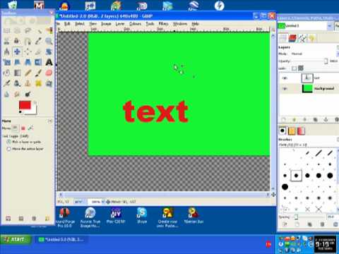 Add a border around the text using GIMP photo editor