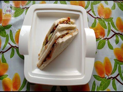 Low calorie sandwich - Vegetable Mayonnaise Sandwich - breakfast recipe - bread recipe