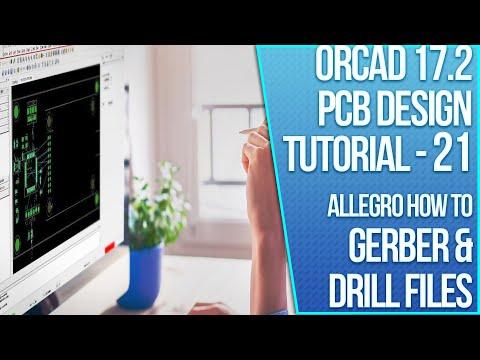 OrCAD 17.2 PCB Design Tutorial - 21 - Generating Artwork and Drill Files