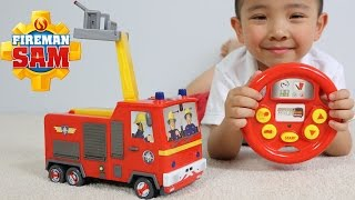 Fireman Sam Drive & Steer Jupiter Remote Control Fire Engine Toy Unboxing And Testing Ckn Toys