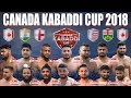 LIVE Canada Kabaddi Cup 2018 Hershey Centre