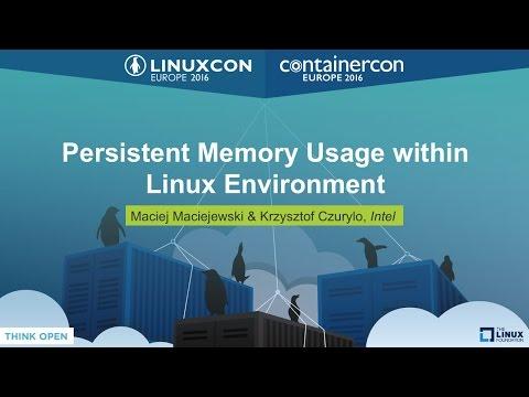 Persistent Memory Usage within Linux Environment by Maciej Maciejewski & Krzysztof Czurylo, Intel