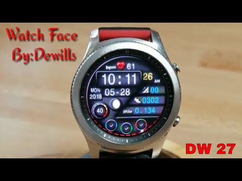 Gear S3 Watch Face Review Holiday Edition By:DW