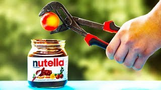1000 DEGREE METAL BALL VS Nutella | 7 Experiments and Tests