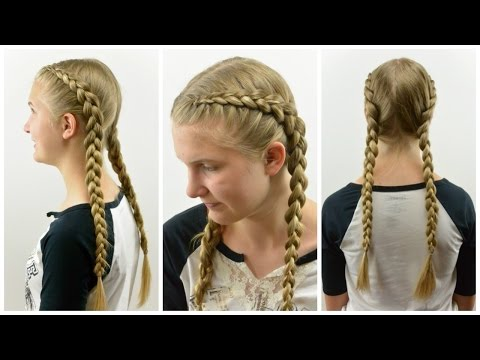 Tight Dutch Braids on Yourself | BabesinHairland.com