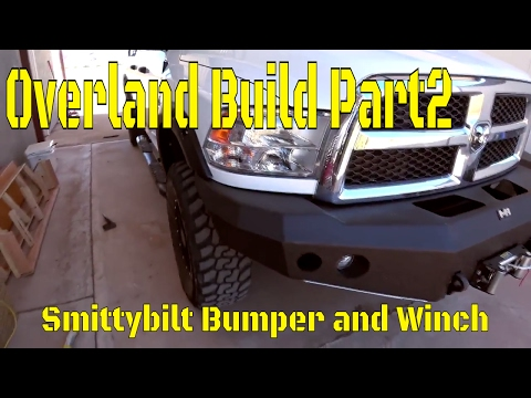 Overland Camping Vehicle Build! Part 2: Smittybilt Bumper and Winch