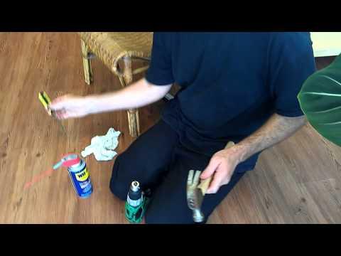 How to fix a stuck keyless drill chuck hitachi