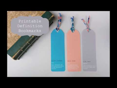 Printable Definition Bookmarks