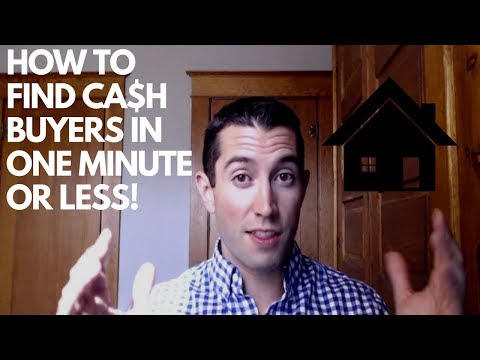 How to FIND CASH BUYERS for REAL ESTATE in ONE MINUTE or LESS! | Wholesaling & Flipping Real Estate
