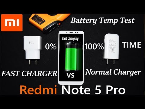 Redmi Note 5 Pro Fast Charging 9V 1.67A  vs Normal  5 V  2A  Charging Time Comparison Heat Test