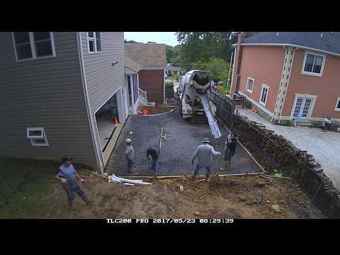 Time-Lapse Video of a Concrete Driveway Pour