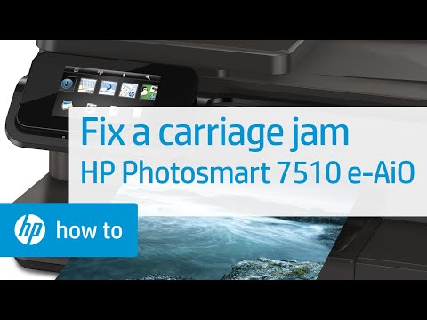 Fixing a Carriage Jam - HP Photosmart 7510 e-All-in-One Printer (C311a)