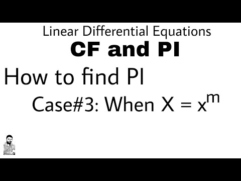 7. HOW TO FIND PI | CASE#3 | DIFFERENTIAL EQUATIONS OF HIGHER ORDER