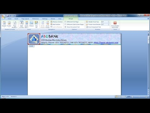 Microsoft word tutorial |How to quickly design your own letterhead (header word) in MS Word