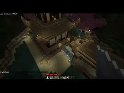 Minecraft - Japanese Pagoda with Zen Garden and Bridge