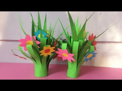 How to Make Flower Bouquet with Color Paper | DIY Paper Flower Bouquets Making